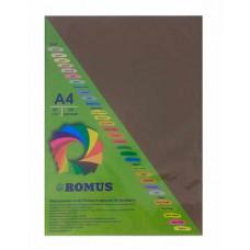 Папір кольоровий Romus A4 80 г/м2 100 аркушів Шоколадний (R50492)