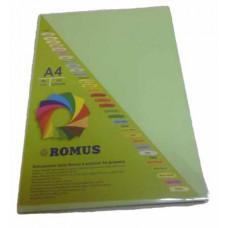 Папір кольоровий Romus A4 80 г/м2 100 аркушів Світло-зелений (R50638)