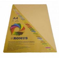 Папір кольоровий Romus A4 80 г/м2 100 аркушів Темно-кремовий (R50072)