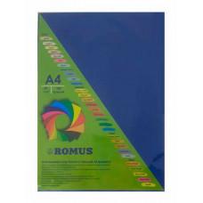 Папір кольоровий Romus A4 80 г/м2 100 аркушів Темно-синій (R50478)