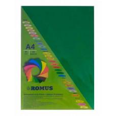 Папір кольоровий Romus A4 80 г/м2 100 аркушів Темно-зелений (R50454)