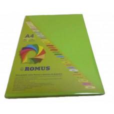 Папір кольоровий Romus A4 80 г/м2 100 аркушів Яскраво-зелений (R51000)