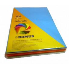 Папір кольоровий Romus A4 80 г/м2 245 аркушів 7 кольорів Mix Color (R51048)