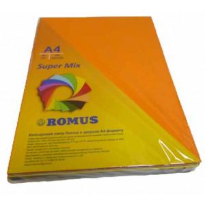 Папір кольоровий Romus A4 80 г/м2 250 аркушів 10 кольорів Super Mix (R50959)