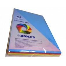 Папір кольоровий Romus A4 80 г/м2 250 аркушів 5 кольорів Mix Intensive (R51291)