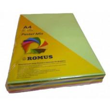 Папір кольоровий Romus A4 80 г/м2 250 аркушів 5 кольорів Mix Pastel (R50874)