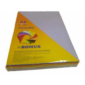 Папір кольоровий Romus A4 80 г/м2 250 аркушів 5 кольорів Mix Trend (R50904)
