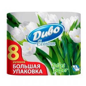 Папір туалетний Диво Econom двошаровий 8 рулонів (99775)