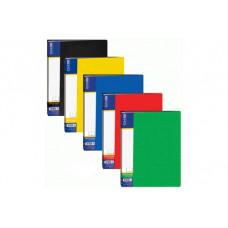 Папка пластикова Economix A4 60 файлів Асорті (E30606)
