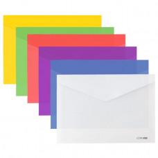 Папка-конверт на кнопці Economix A5 180 мкм Асорті (E31316)