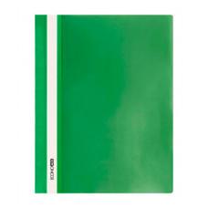 Папка-швидкозшивач Economix A4 з прозорим верхом без перфорації Зелена (E31511-04)