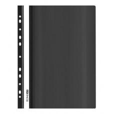Папка-швидкозшивач Economix A4 з прозорим верхом з перфорацією Чорна (E31510-01)