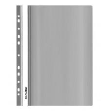 Папка-швидкозшивач Economix A4 з прозорим верхом з перфорацією Сіра (E31510-10)