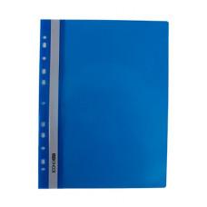 Папка-швидкозшивач Economix A4 з прозорим верхом з перфорацією Синя (E31510-02)