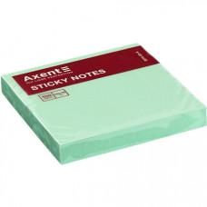 Папір для нотаток Axent з клейким шаром 75х75 мм 100 аркушів Зелений (2314-02-A)