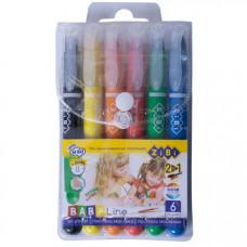 Пастель масляна шовкова ZiBi Baby Line 6 кольорів (ZB.2495)