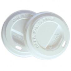 Кришка для стакана фігурна 72 мм 50 шт. Біла (ПЛ-72 біла)