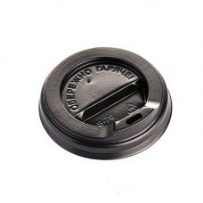 Кришка для стакана фігурна 72 мм 50 шт. Чорна (ПЛ-72 чорн)