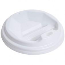 Кришка для стакана фігурна 89 мм 50 шт. Біла (ПЛ-89 біл)