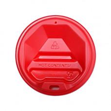 Кришка для стакана фігурна 72 мм 50 шт. Червона (ПЛ-72 черв)