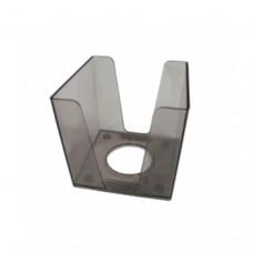 Пластиковий бокс для паперу Economix 90х90х90 мм Димчастий (E32603-17)