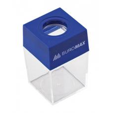 Пластиковий бокс для скріпок Buromax з магнітом Прозорий (BM.5085)