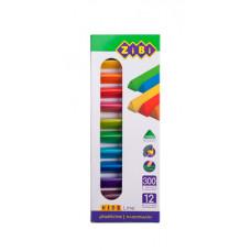 Пластилін ZiBi Kids Line 12 кольорів 300 г (ZB.6227)