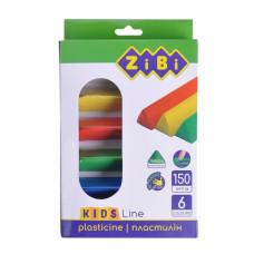 Пластилін ZiBi Kids Line 6 кольорів 150 г (ZB.6225)