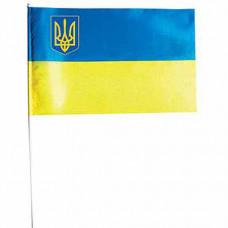 Прапор з тризубом П2 атласний на паличці (П2АТ)