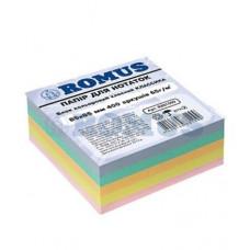 Папір для нотаток Romus Проклеєний 85х85 мм 400 аркушів Класика (R881099)