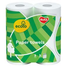 Рушники паперові Ecolo двошарові 2 рулони (47210)