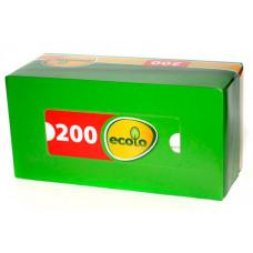 Серветки косметичні Ecolo двошарові 200 шт. (748576)