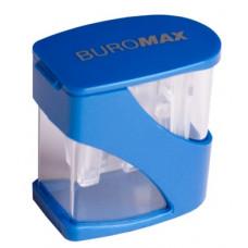 Точилка пластикова Buromax з контейнером 2 отвора (BM.4777)