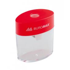 Точилка пластикова Buromax з контейнером Асорті (BM.4752)