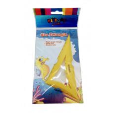 Трикутник пластиковий 1 Вересня 12х7 см Кольоровий (370342)