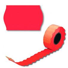 Цінники 26х12 мм А12 фігурні Червоні 6 м (50606)