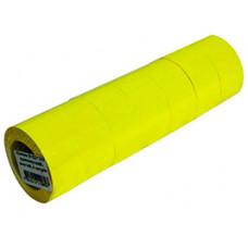 Цінники 29х36 мм А12 прямокутні Жовті 166 шт 6 м (27019)