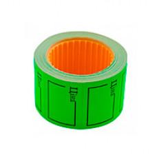 """Цінники """"Ціна"""" 29х36 мм F прямокутні Зелені 6 м (27026)"""