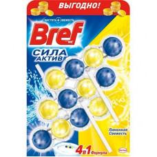 Туалетні блоки для унітаза Bref Сила Актив Лимон 150 г (53463)