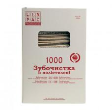 Зубочистки Linpac в індивідуальній поліетиленовій упаковці 1000 шт. (4594)